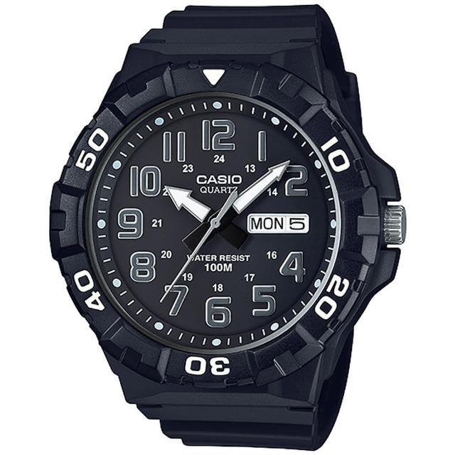 【CASIO 卡西歐】潛水運動風潮流錶-黑(MRW-210H-1AVDF)