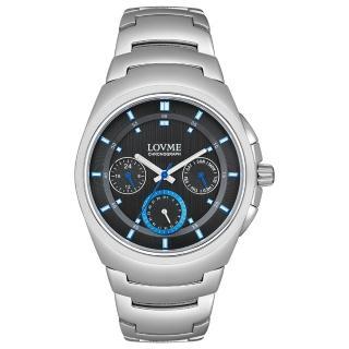 【LOVME】潮流魅力時尚手錶-黑/43mm(VS0365M-2S-3L1)