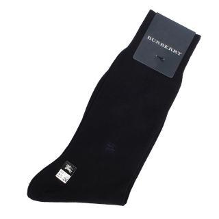 【BURBERRY】經典戰馬LOGO刺繡棉質紳士襪(深藍色)