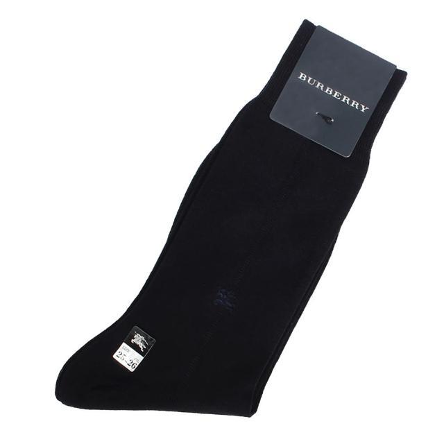【BURBERRY 巴寶莉】經典戰馬LOGO刺繡棉質紳士襪(深藍色)