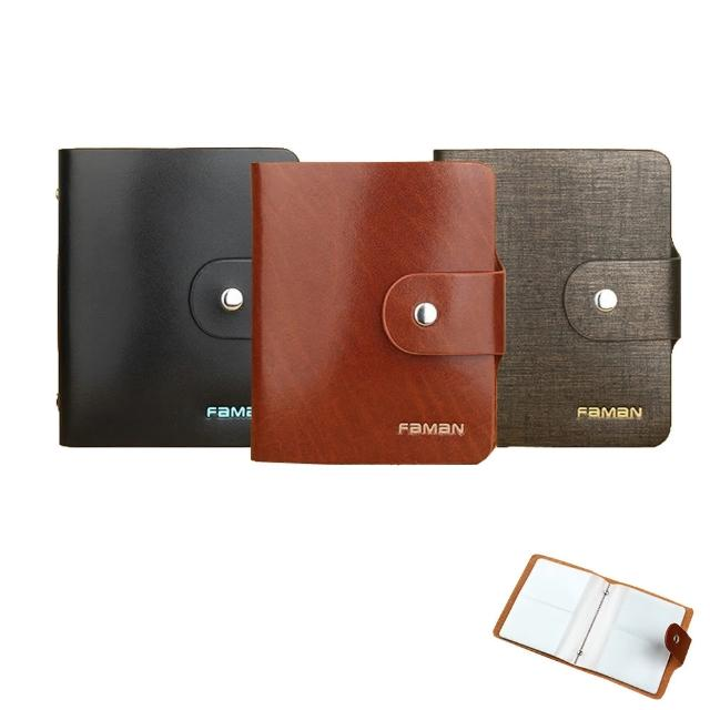 【PUSH!精品皮件】40卡位真牛皮信用卡夾信用卡包名片夾保護皮套(PUSH16)