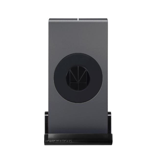 【HOMI】MultiDock 鋁鎂合金多功能QI無線充電座-灰(支援iPhone X/8/8Plus無線充電可直接使用)