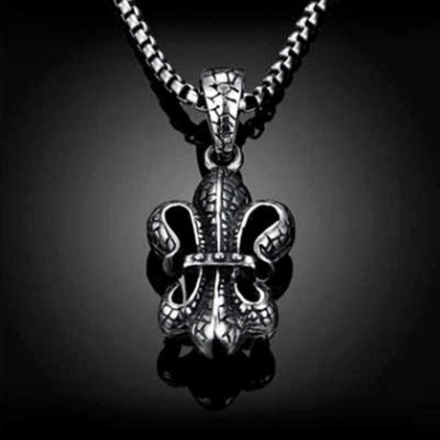 【米蘭精品】鈦鋼項鍊吊墜(龐克復古搖滾個性情人節生日禮物男配件73cm78)
