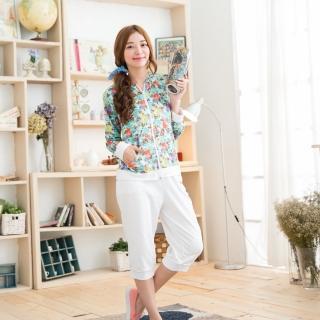 【Jimmy&Wang】首爾名媛長袖外套+七分褲套裝2件組(網)