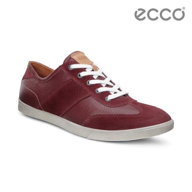 【ECCO】COLLIN 男綁帶休閒鞋(紅 53589457111)
