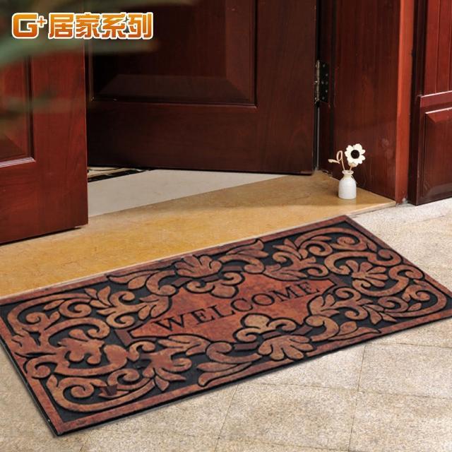 【G+居家】橡膠植絨迎賓戶外大地墊腳踏墊(多款可選)/