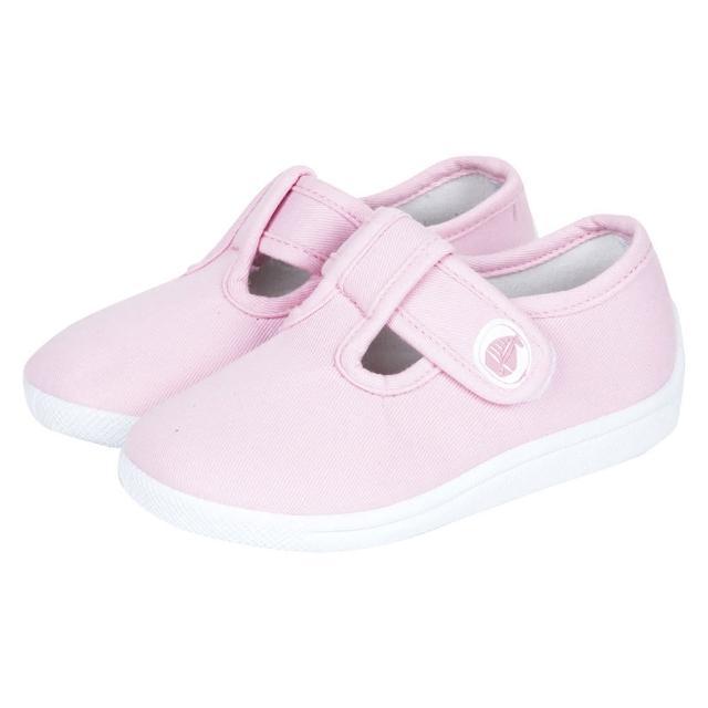 【英國 JoJo Maman BeBe】嬰幼兒童帆布鞋/休閒鞋 淡粉(JJCV1-003)