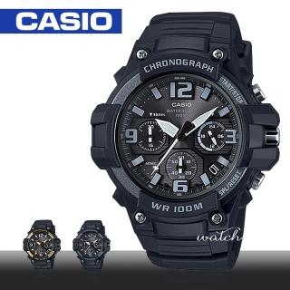 【CASIO 卡西歐】時尚潮流_型男必備_防水_膠質錶帶_壓克力鏡面_錶錶(MCW-100H)
