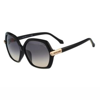 【Roberto Cavalli】-六角型設計太陽眼鏡(黑色)