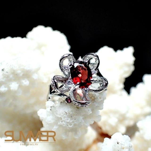 【SUMMER寶石】天然《紅石榴》設計款戒指(-P2-25)