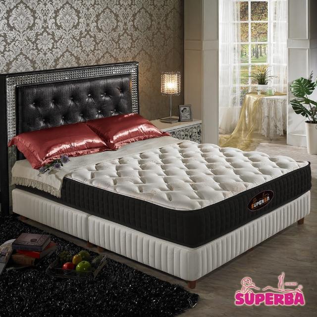 【瑞士Superba】DoubsN二線乳膠獨立筒床墊-雙人加大6尺