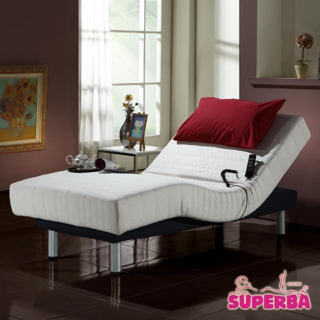【瑞士Superba】Rigi線控乳膠電動床-單人3.3尺