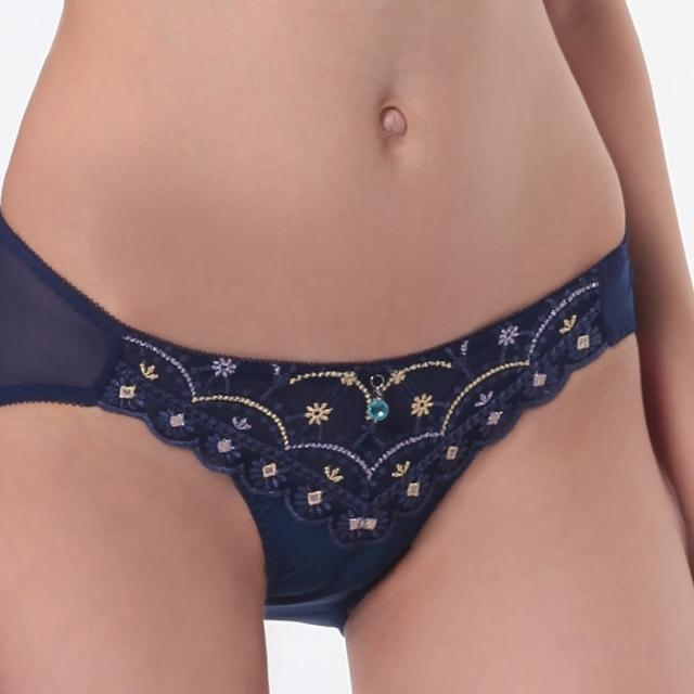 【LADY】舞夜巴黎系列 低腰三角褲(舞夜藍)