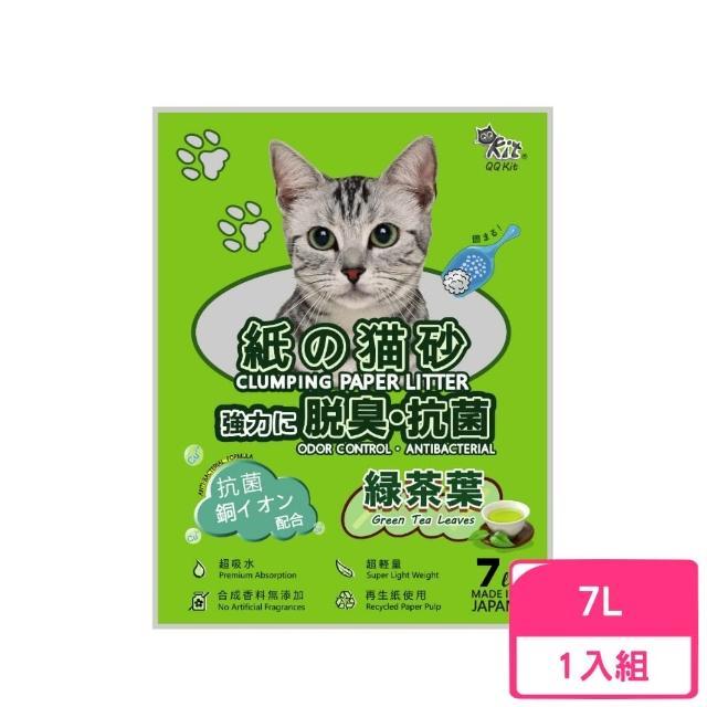【QQ KIT】綠茶味 環保紙貓砂 7L