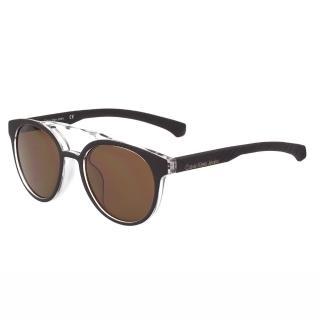 【Calvin Klein Jeans】-復古款太陽眼鏡(黑色)