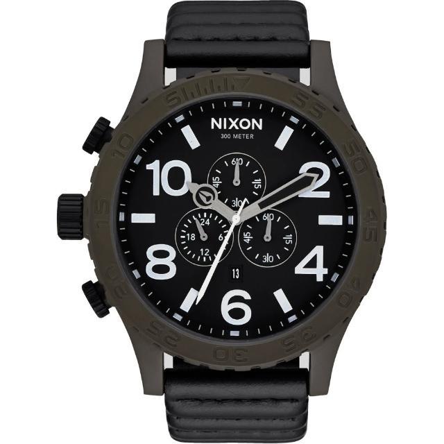 【NIXON】51-30 CHRONO LEATHER 潛龍諜影運動腕錶(A1242138)