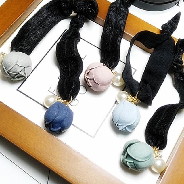 【梨花HaNA】韓國古典情懷含苞珍珠吊墜髮圈