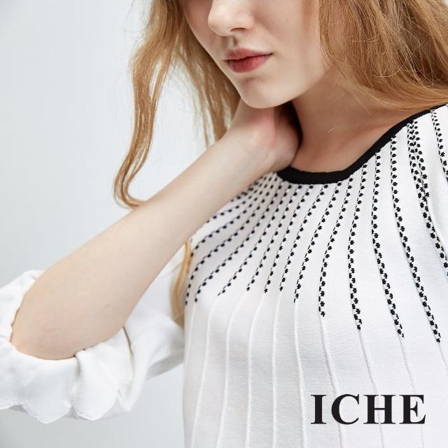 【ICHE 衣哲】立體花邊飾造型上衣