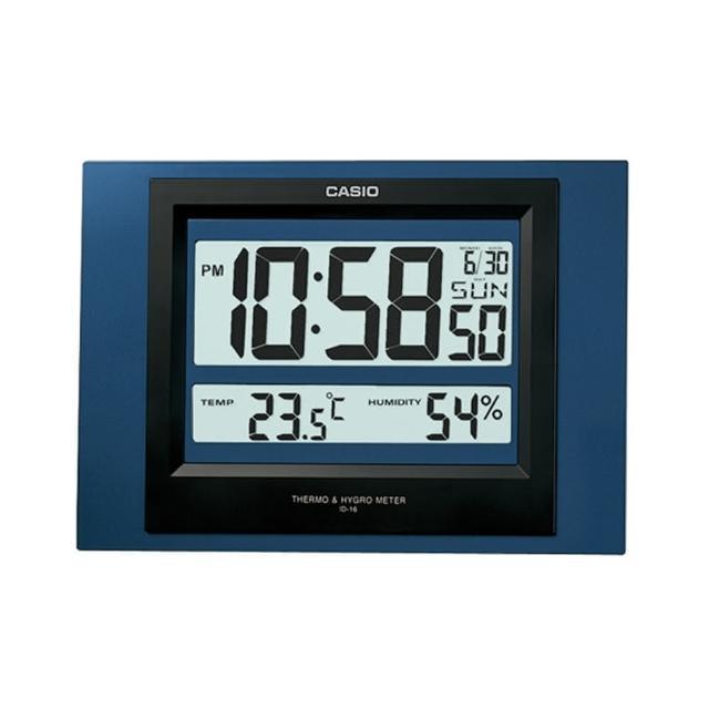 【CASIO】大字幕基本款貪睡鬧鐘/掛鐘-藍(ID-16S-2)