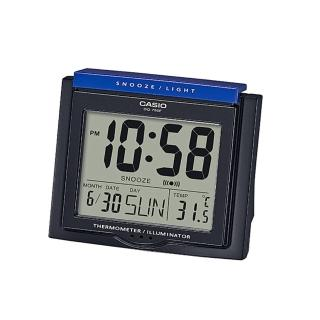 【CASIO】實用日歷貪睡桌上型鬧鐘(DQ-750F-1)