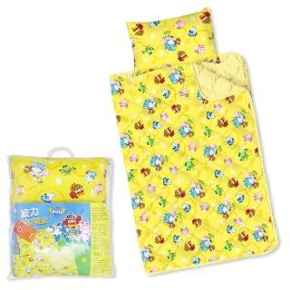 【BabyTiger虎兒寶】MIT台灣製卡通圖案幼教兒童睡枕頭+棉被組-POLI 救援小英雄 波力 ROBOCAR
