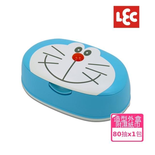 【日本LEC】小叮噹造型盒裝純水濕紙巾80抽1包/