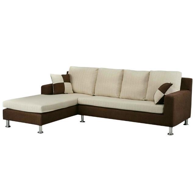 【Bernice】洛娜L型布沙發-左右型(送抱枕)