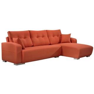 【Bernice】曼蒂厚亞麻布L型沙發-左右型送抱枕(二色可選)