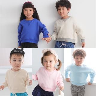 【baby童衣】兒童素面刷毛厚T恤 61162(共5色)