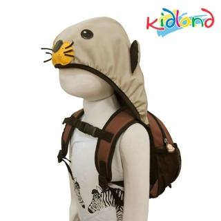 【kidland】動物造型防走失連帽後背包(水獺)