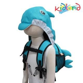 【kidland】動物造型防走失連帽後背包(海豚)