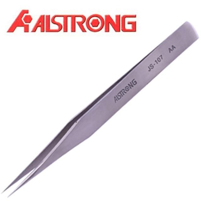 【ALSTRONG】不鏽鋼無磁圓尖鑷子 TZ-107