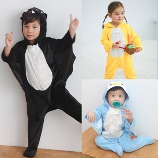 【baby童衣】水晶絨動物造型連身衣 60148(共3色)