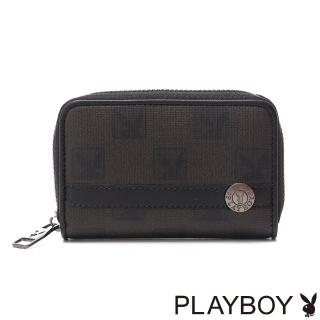 【PLAYBOY】Checkerboard Rabbit 紳士棋盤兔系列 零錢夾(經典黑)