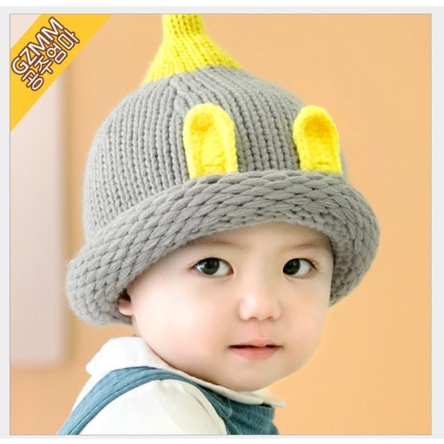 6-18個月-韓版療癒溫馨色系可愛尖頭兔兔毛帽
