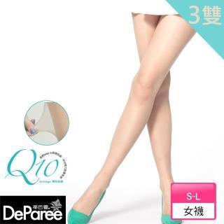 【蒂巴蕾Deparee】Q10彈性絲襪(3入)