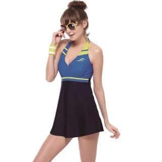 【SAIN SOU】泡湯SPA二件式連身裙泳裝(附泳帽A92610)