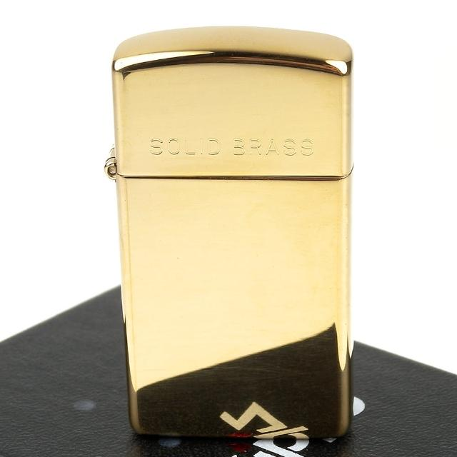 【ZIPPO】美系-Solid Brass-純銅高磨光金色鏡面(窄版)