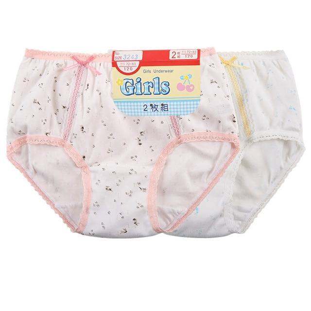 【一王美】一王美台灣製前片蕾絲兔子女童褲-6件組(隨機取色)
