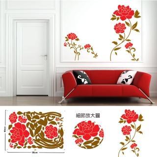 時尚壁貼 - 大紅玫瑰