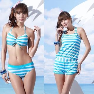 【SAIN SOU】戲水/沙灘/踏浪大女比基尼三件式泳裝(附泳帽A93607)