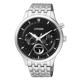 【CITIZEN Eco-Drive】簡約時尚經典腕錶(黑/AP1050-56E)