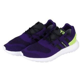 【Y-3】PURE BOOST ZG KNIT 黑紫編織設計慢跑鞋(黑+紫)