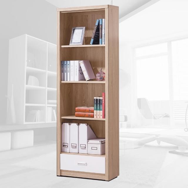 【樂和居】萊姆橡木白2X6尺下抽書櫃