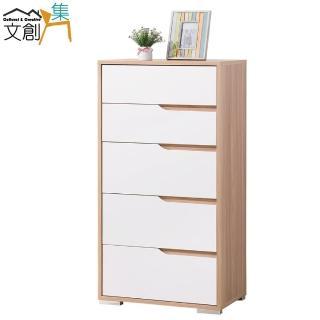 【文創集】莎薇   木紋雙色2尺五抽斗櫃/收納櫃