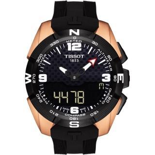 【TISSOT】天梭 T-TOUCH 鈦金屬太陽能觸控腕錶 NBA 特別版腕錶-45mm(T0914204720700)