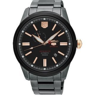 【SEIKO】精工 5號盾牌60週年限定版機械錶-黑/44mm(4R37-01G0K SSA317J1)