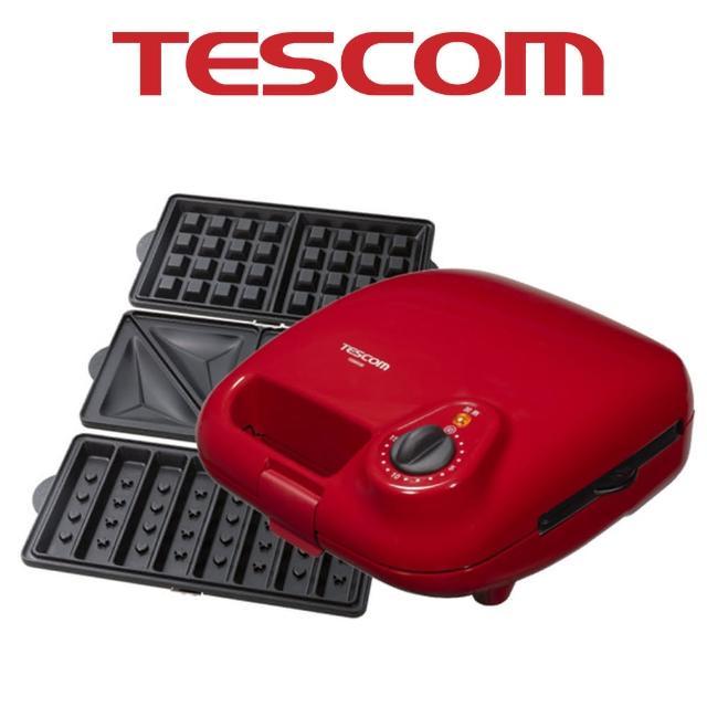 【TESCOM】三盤式鬆餅機(HSM530TW)