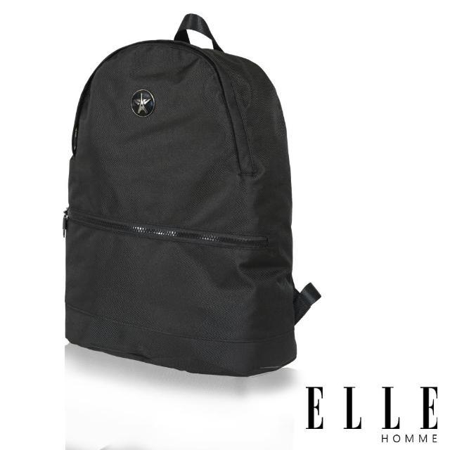 【ELLE HOMME】巴黎風輕旅商務休閒多功能後背包(黑 EL83897-02)