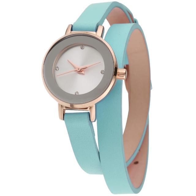 【MANGO】星球系耀眼經典時尚腕錶(綠/24mm)